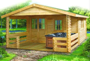 Woods sheds log cabins for sale halsey oregon for Log cabin garages for sale